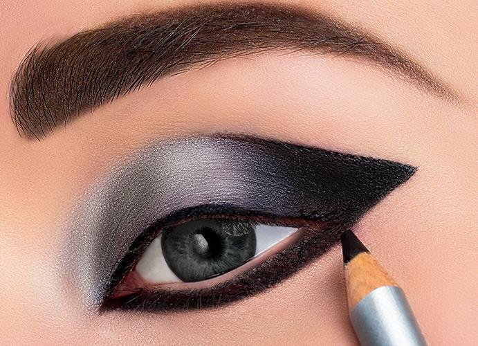 Maquillaje de ojos sin difuminar