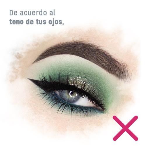 El color de tu sombra de ojos no debe ir de acuerdo con el tono de tus ojos