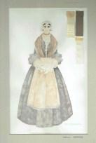 Kostuumontwerp voor Suzanna uit De Waaier (Haagse Comedie, 1977). Ontwerp Hans Christiaan. Bron: Marjolein Sligte