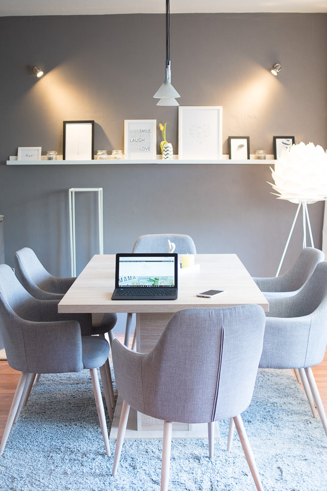 Wohnzimmer Esszimmer Esstisch Dekoration Bilderleiste