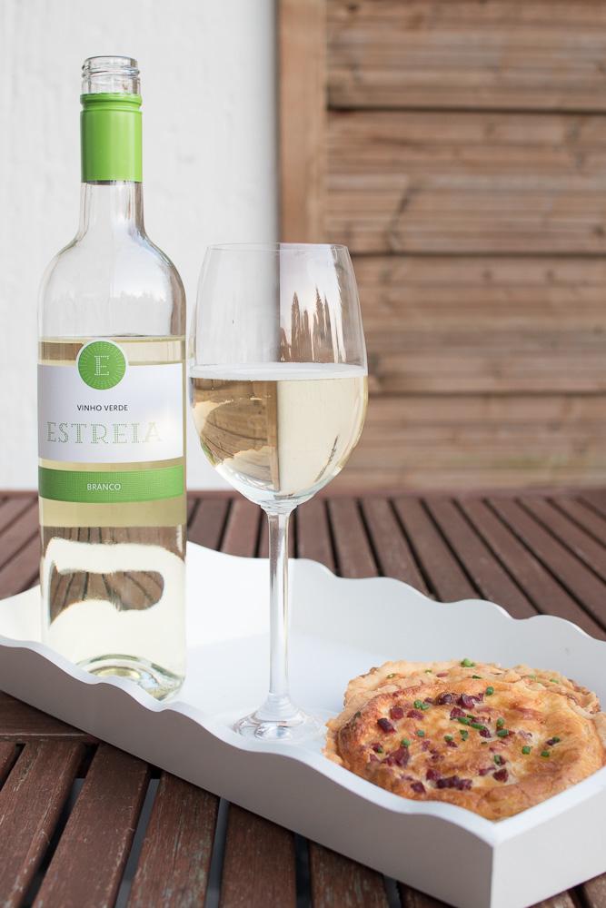 mini quiche fingerfood rezept vinho verde snack weisswein