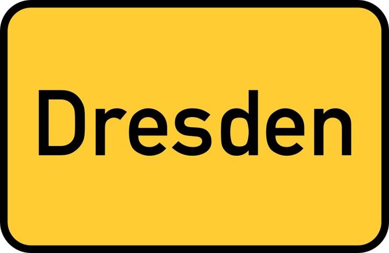 Dresden Ortsschild Deutschlandtour