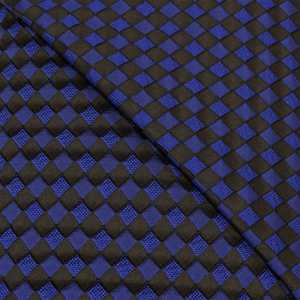 57.08615.014 Jacquard Blok Diagonaal kobalt