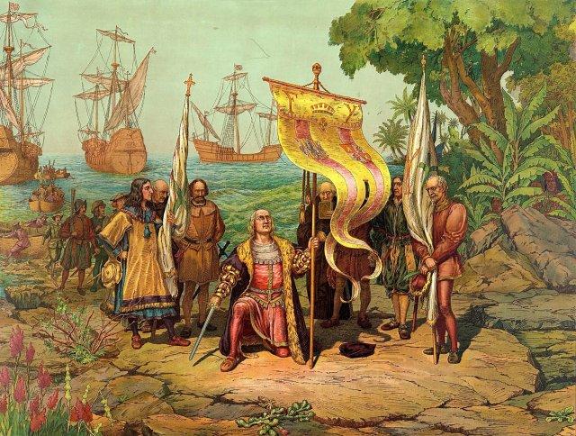Chegada de Colombo à América