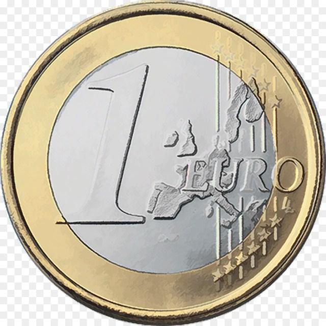 1 Euro com Mapa Antigo