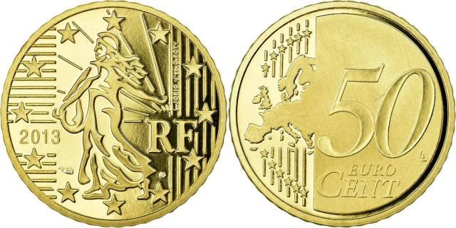 50 cêntimos França 2013
