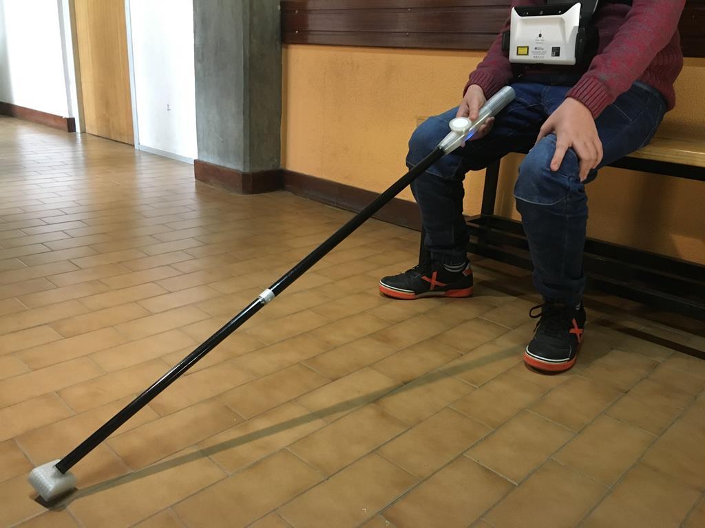 Bengala eletrónica para cegos