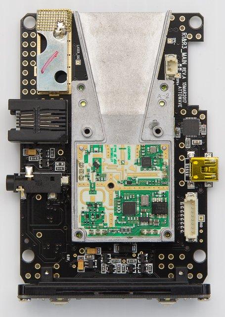 Uniden R1 Internals Under the Hood, main circuitry inside of horn