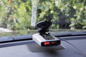 Escort iX reflecting in the windshield