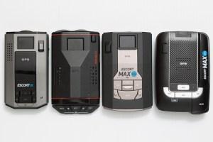 Escort iX, Redline EX, Max 360c, and Max360 radar detectors