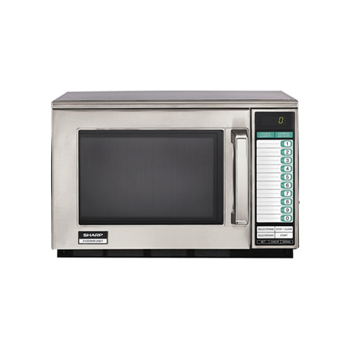 sharp r 21lvf digital control moderate duty commercial microwave oven