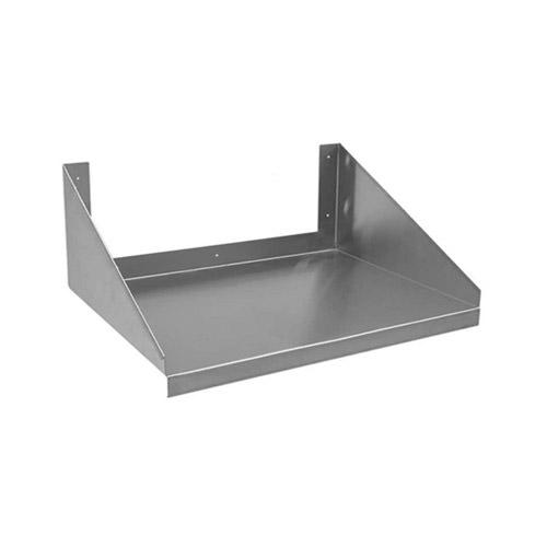efi wmms 18 24 18 gauge stainless steel wall mount microwave shelf
