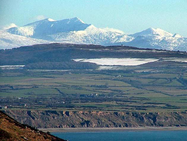 Caer Guorthegirn On Yr Wyddfa Snowdon Gwynedd Wales