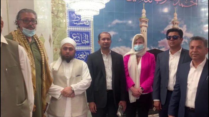 Kathryn Garcia visits Makki Mosque, President APAG, Ali Rasheed also accompanied.
