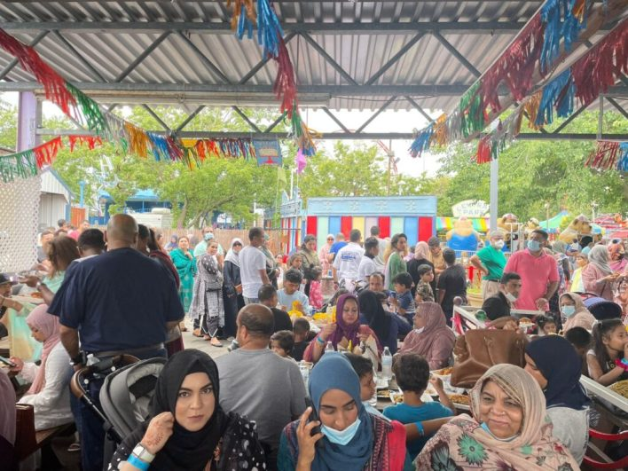 NYPD Muslim officers Eid carnival at Suburban park.