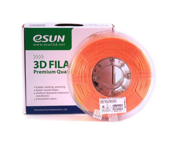 Filaments 3D PLA+ de qualité et résistant vert orange