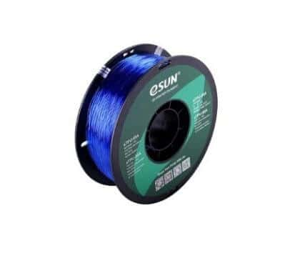 eSUN eTPU-95A Filament bleu Transparent – 1,75 mm – 1 kg