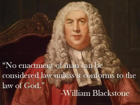 Enactments must comform to the law of God