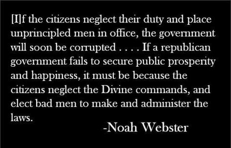 If citizens neglect their duty