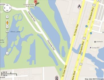(A) Greynolds Park Club Condominium (B) Proposed Braha Dixie