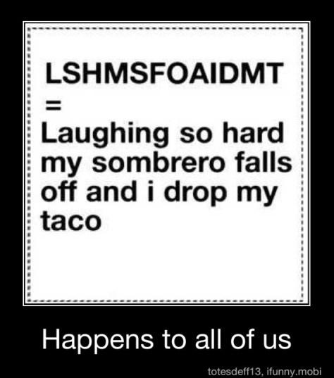Laughing so hard