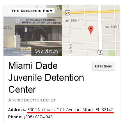 Miami Dade Juvenile Detention Center