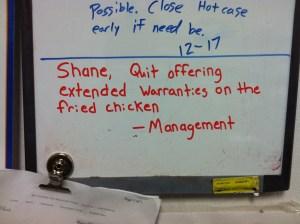 written reprimand
