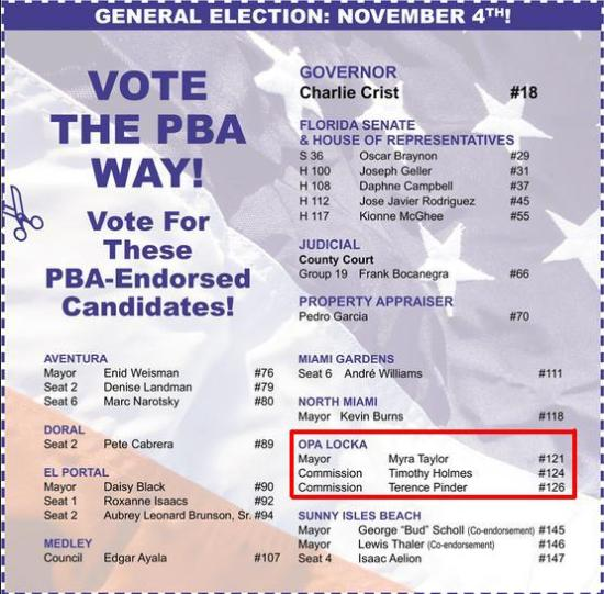 PBA OPA-LOCKA ENDORSEMENT