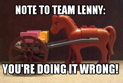 Note to Team Lenny