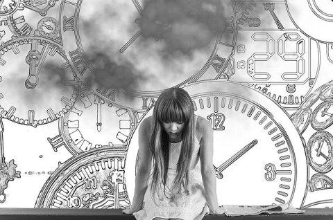 femme et prise de temps