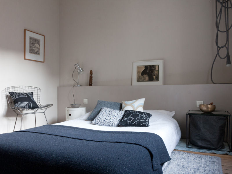 trendy ide dco chambre taupe et bleu with idee deco chambre taupe
