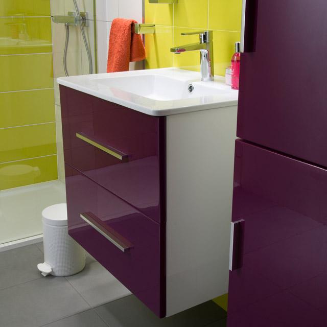 couleur aubergine salle de bain
