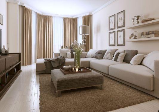 decoration salon beige et gris