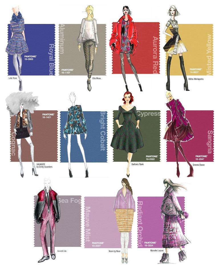 Les couleurs Pantone Fashion vues par les designers