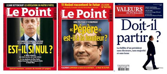 Le Point Valeurs Actuelles François Hollande Nicolas Sarkozy