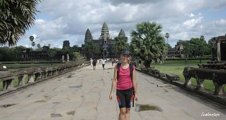 La visite de angkor vat au Cambodge pendant l'un de mes voyages