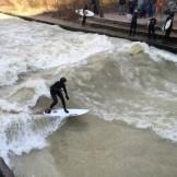 Surfe no rio, no Jardim Inglês