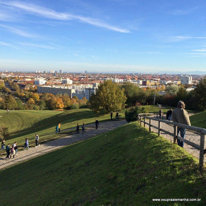 Vista da Olympiaberg, no Parque Olímpico de Munique