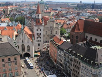 Vista da Torre da Nova Prefeitura de Munique