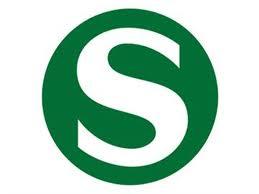 Símbolo do trem S-bahn que sai do aeroporto e vai para o centro de Munique