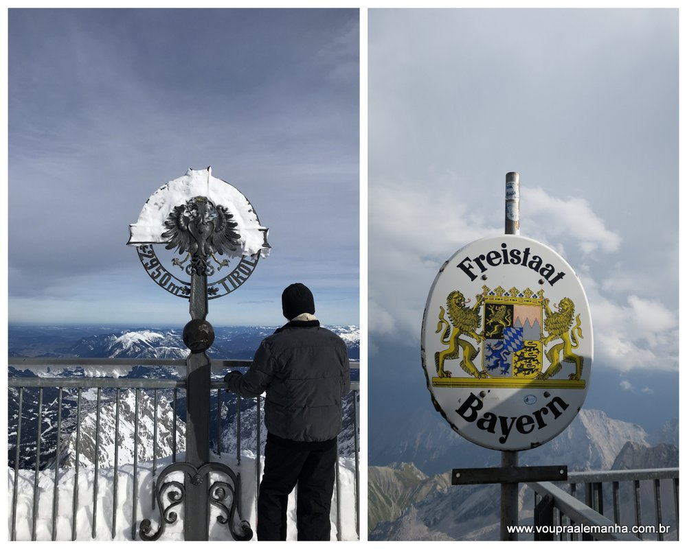 Zugspitze na Alemanha e na Áustria