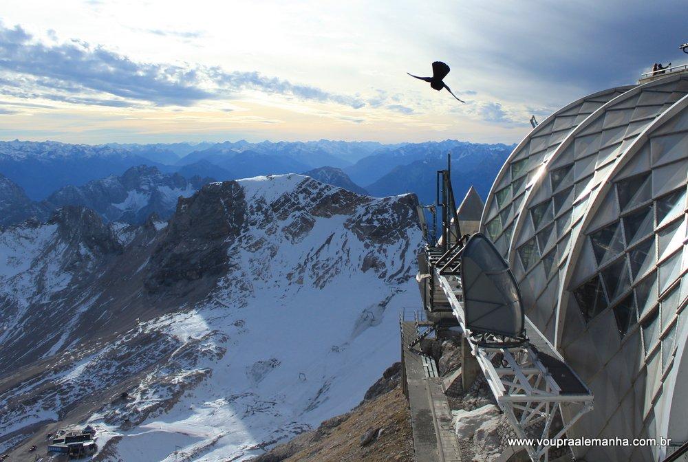 Vista do Zugspitze na Alemanha