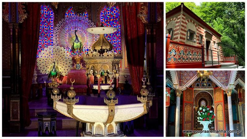 Quiosque Mouro e Casa Marroquina dentro do parque do Palácio Linderhof