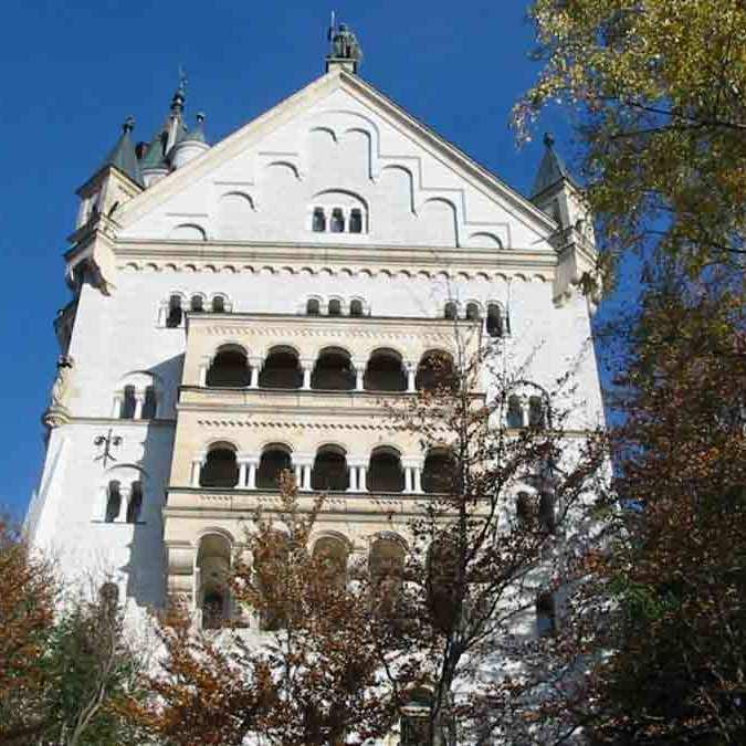 Os fundos do Castelo Neuschwanstein