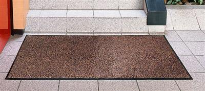 tapis entree absorbant polypropylene 40x60 cm brun