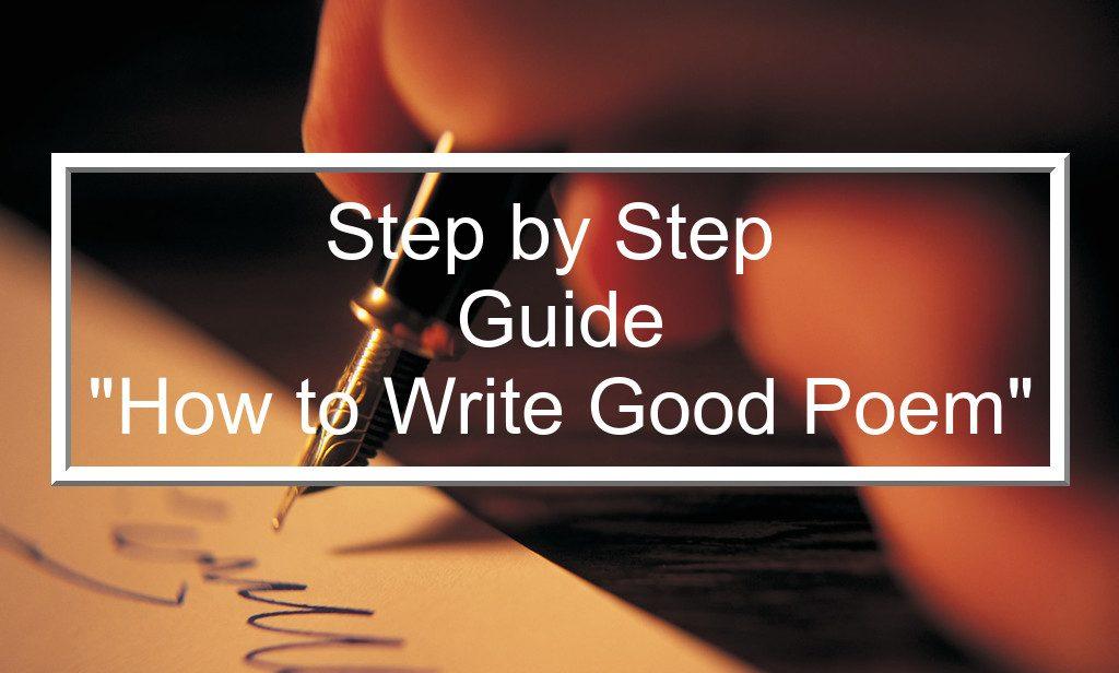 how to write a good poetry essay