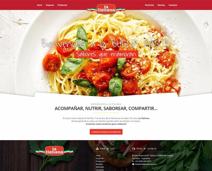 diseño web para la italiana