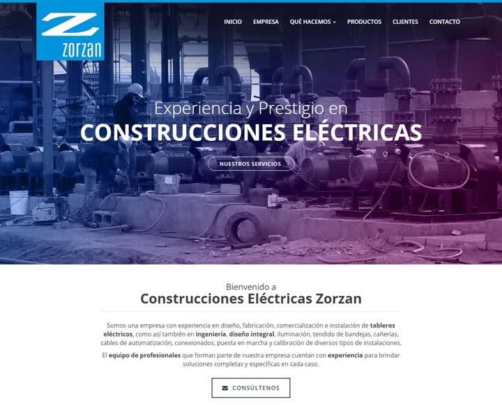 Diseño web para zorzan