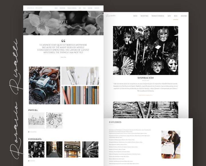 Diseño Web para Rosario Risatti