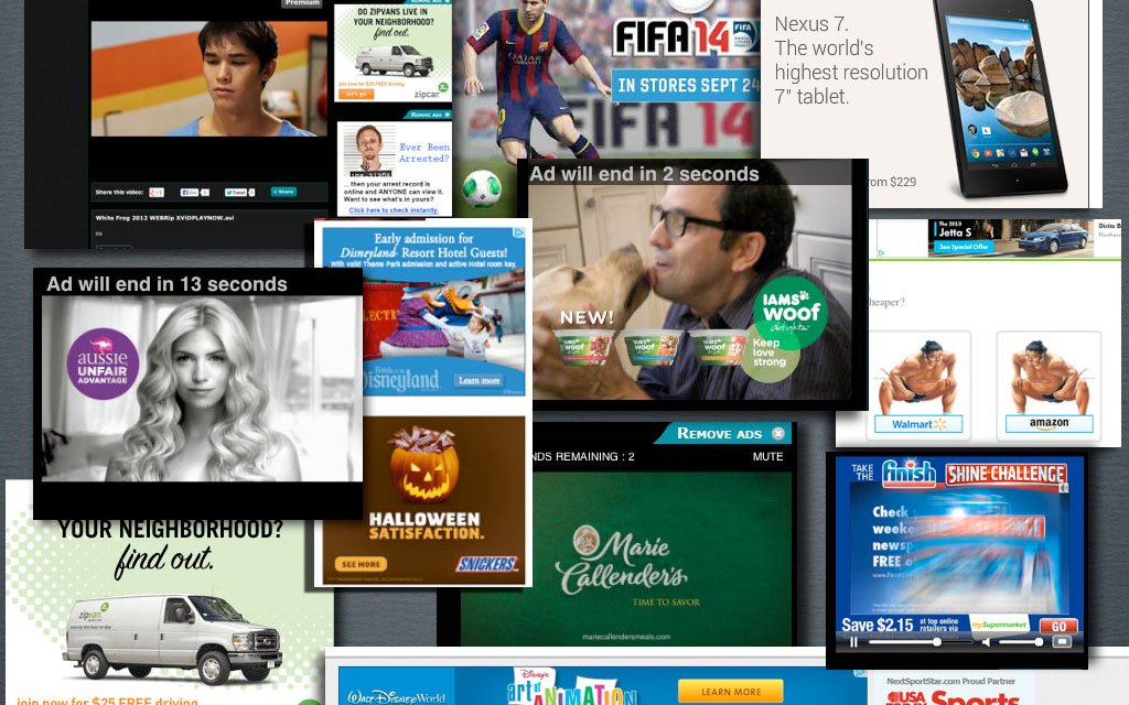 What do Snickers, Disneyland, Marie Callender's, Iams, Zip Car, EA Sports, Finish, MacKeeper, Google Nexus 7 and USA Today Sports have in common?